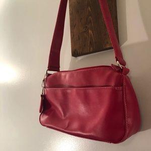 "Red shoulder purse by Liz Claiborne ""The Villager"""